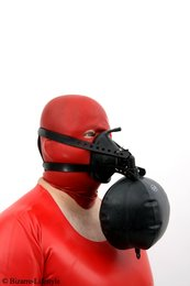 Anaesthetic mask with head harness and breath bag