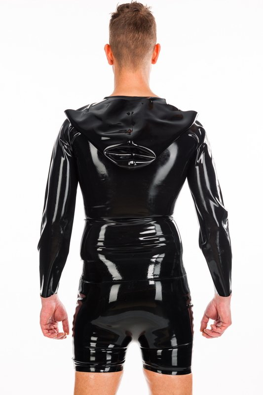 Long Arm Shirt With Hood Bizarre Rubber Shop Latex