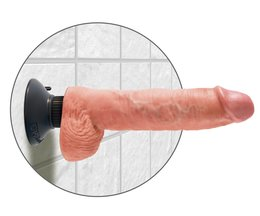 King Cock 10 Zoll Vibrating with balls