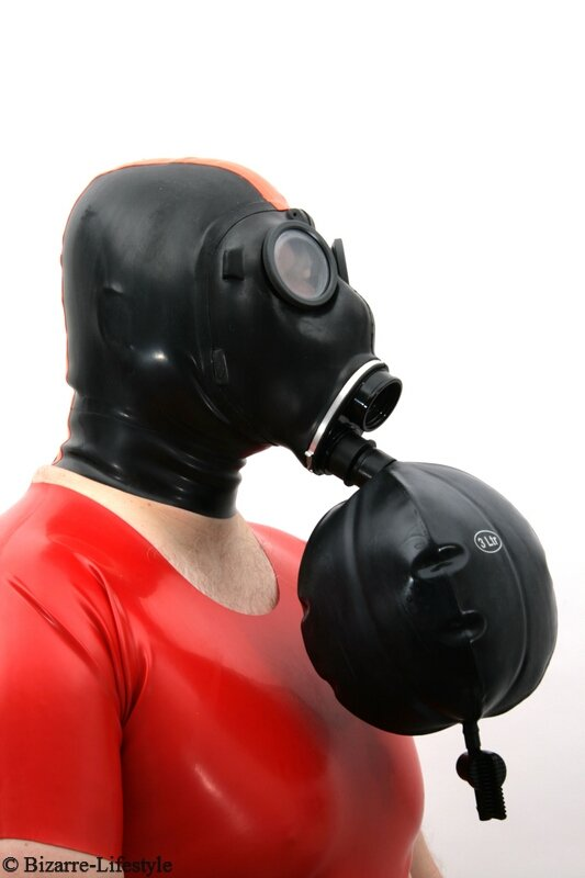 Adapter W L Breath Bag For Swiss Gas Mask Sm on Leather Dog Harness