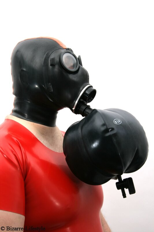 Adapter with 6L breath bag for swiss gas mask SM-67