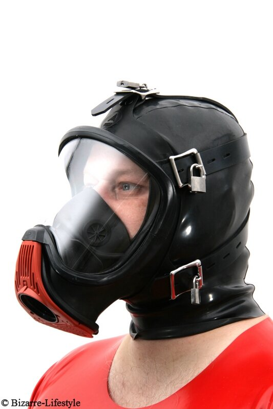 bondage gas mask auer elite pf with hood incl adapter for