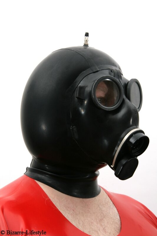 Swiss Gas Mask Sm 67 With Hood And Inflatable Bizarre