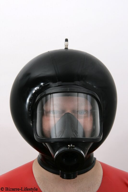 panoramic gas mask mlw with hood and inflatable bizarre