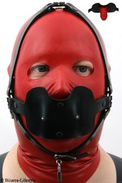 Penis gag head harness option lockable
