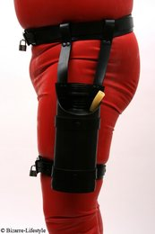Rubber belt with thigh harness and inhaler option lockable