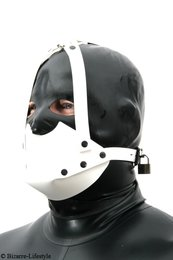 Rubber muzzle white
