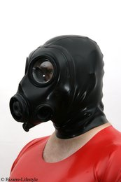 British FM12 gas mask with hood