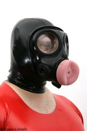 British S10 Blowjob Gas Mask With Hood