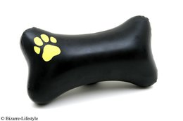Inflatable pillow in bone shape with paw, different colors