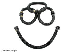 Rubber gas mask corrugated tube 60cm *Exclusiv by Bizarre-Lifestyle*