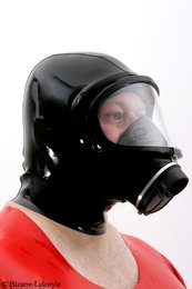 Gas mask Dräger panorama Nova black with hood