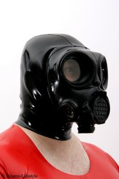 Czech OM-90 gas mask with hood, threaded connection on both sides