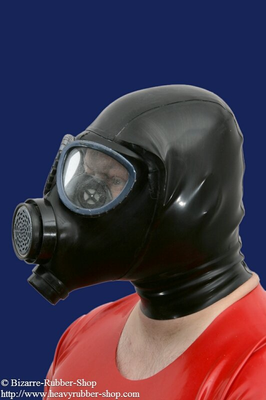 Bulgarian Gas Mask Pg 1 With Hood Black Without Contrast