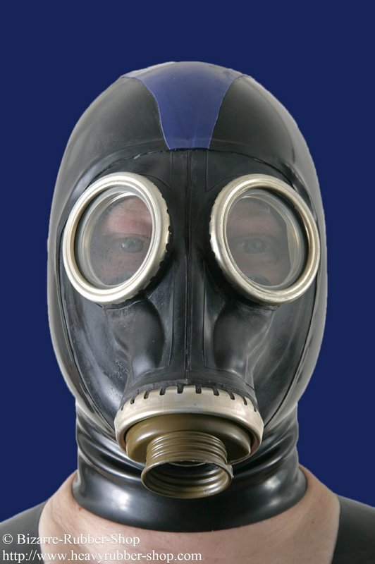 Russian gas mask with hood - Bizarre-Rubber-Shop (Latex