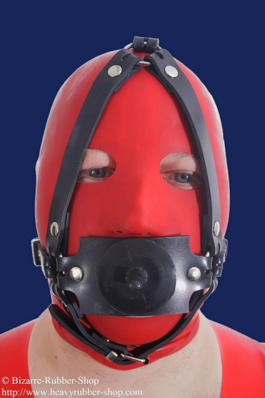 Butterfly Gag Head Harness Option Lockable on Leather Dog Harness