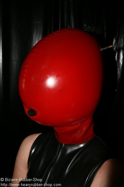 Inflatable Mask With Opening For Mouth Bizarre Rubber