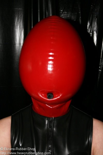 inflatable mask with opening for mouth