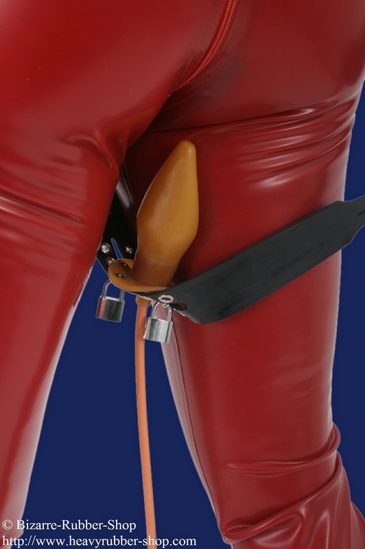 Forced Belt Deluxe With Thigh Cuffs A Inflatable Plug