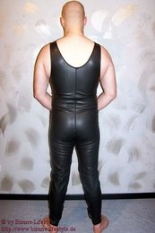 Latex catsuit with carrier