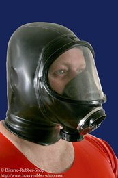 French panoramic gas mask Fenzy with hood