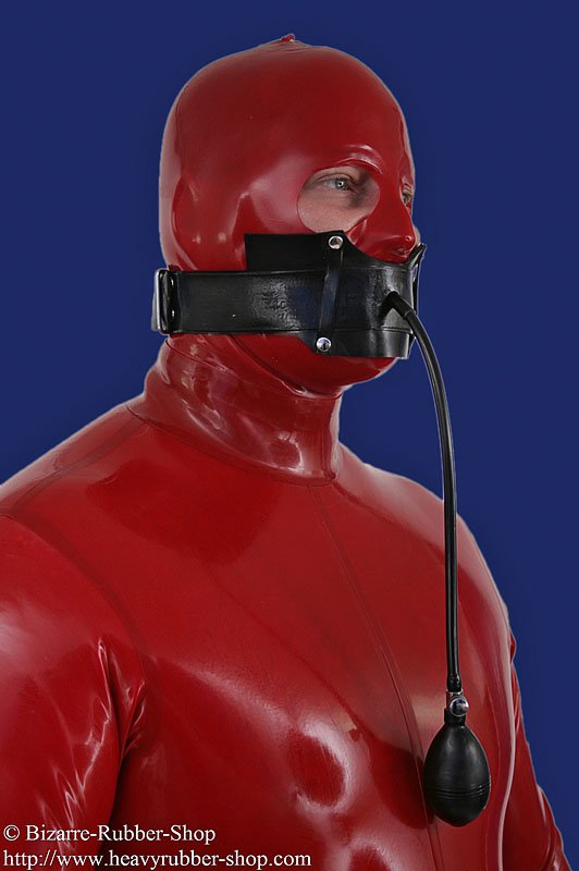 Inflatable Gag With Head Strap Bizarre Rubber Shop