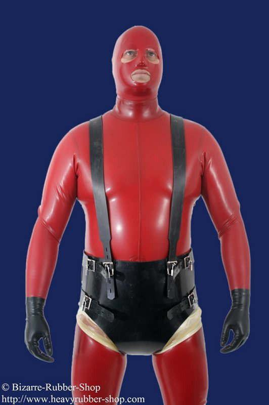 Diaper Punishment Harness With Suspenders Lockable - Bizarre-Rubber-S-5257