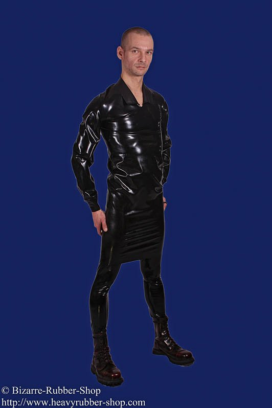 Gents shirt specially long with long arm bizarre rubber for Shirts for men with long arms