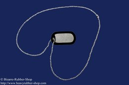 Dog tag silver color with 50cm chain and wish embossing