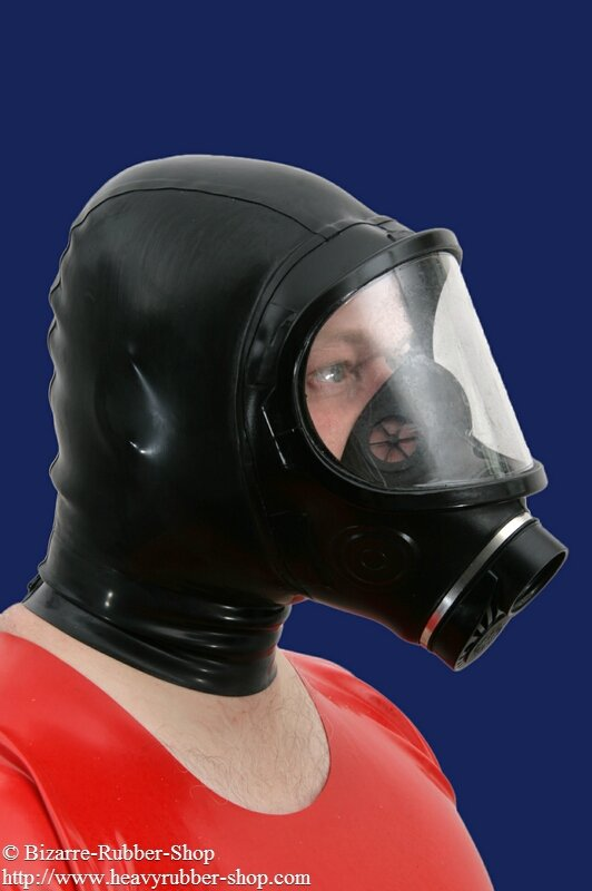 Panoramic Gas Mask Sabre With Hood Bizarre Rubber Shop