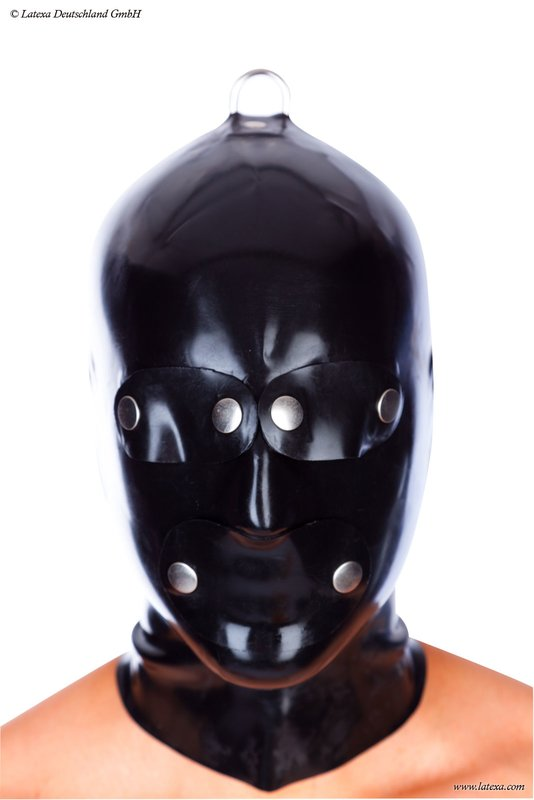Anatomical System Mask With Zipper Bizarre Rubber Shop