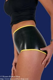 Damen Hotpants mit Kontrastfarbe 0,35mm