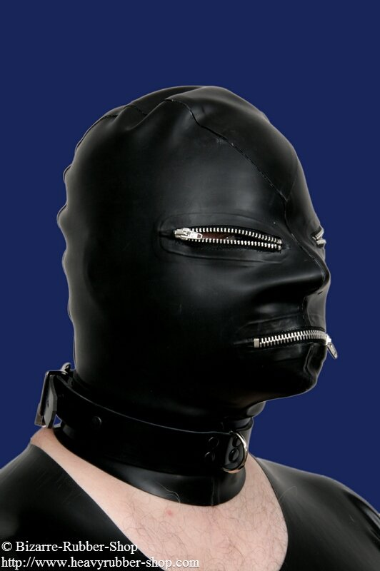 Mask With Eyes And Mouth Zipper 0 60mm Bizarre Rubber