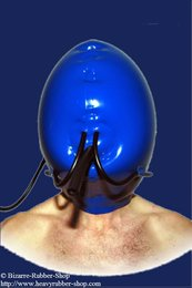 Inflatable mask with breathing tube and nose tubes 0,60mm